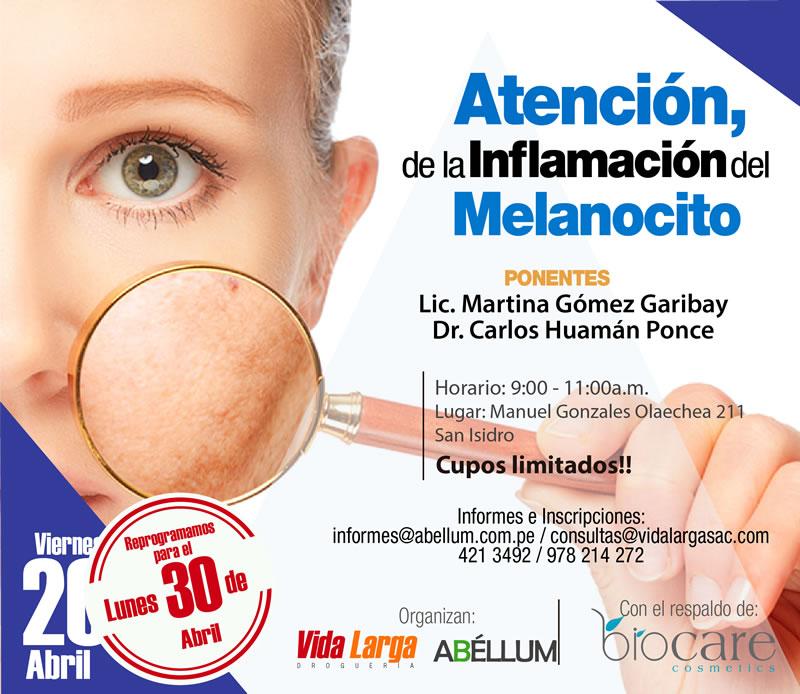 Atención de la inflamación del melanocito